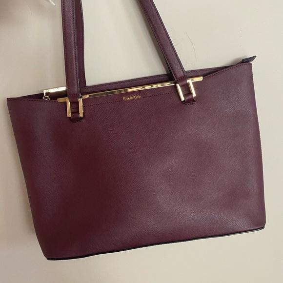 Burgandy/maroon Calvin Klein purse